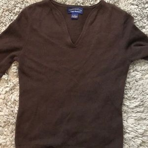 Charter club brown cashmere sweater